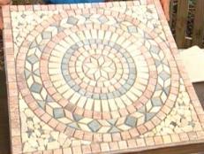 installing medallions to tile flooring