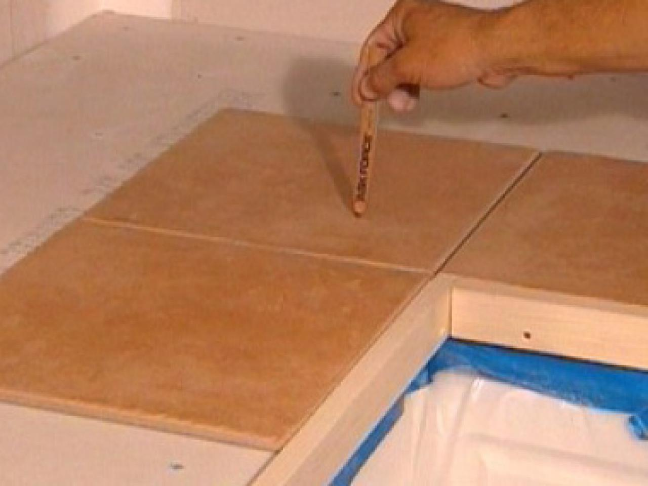 Kitchen Counter Tile How To Install Tiles On A Kitchen Countertop How Tos Diy
