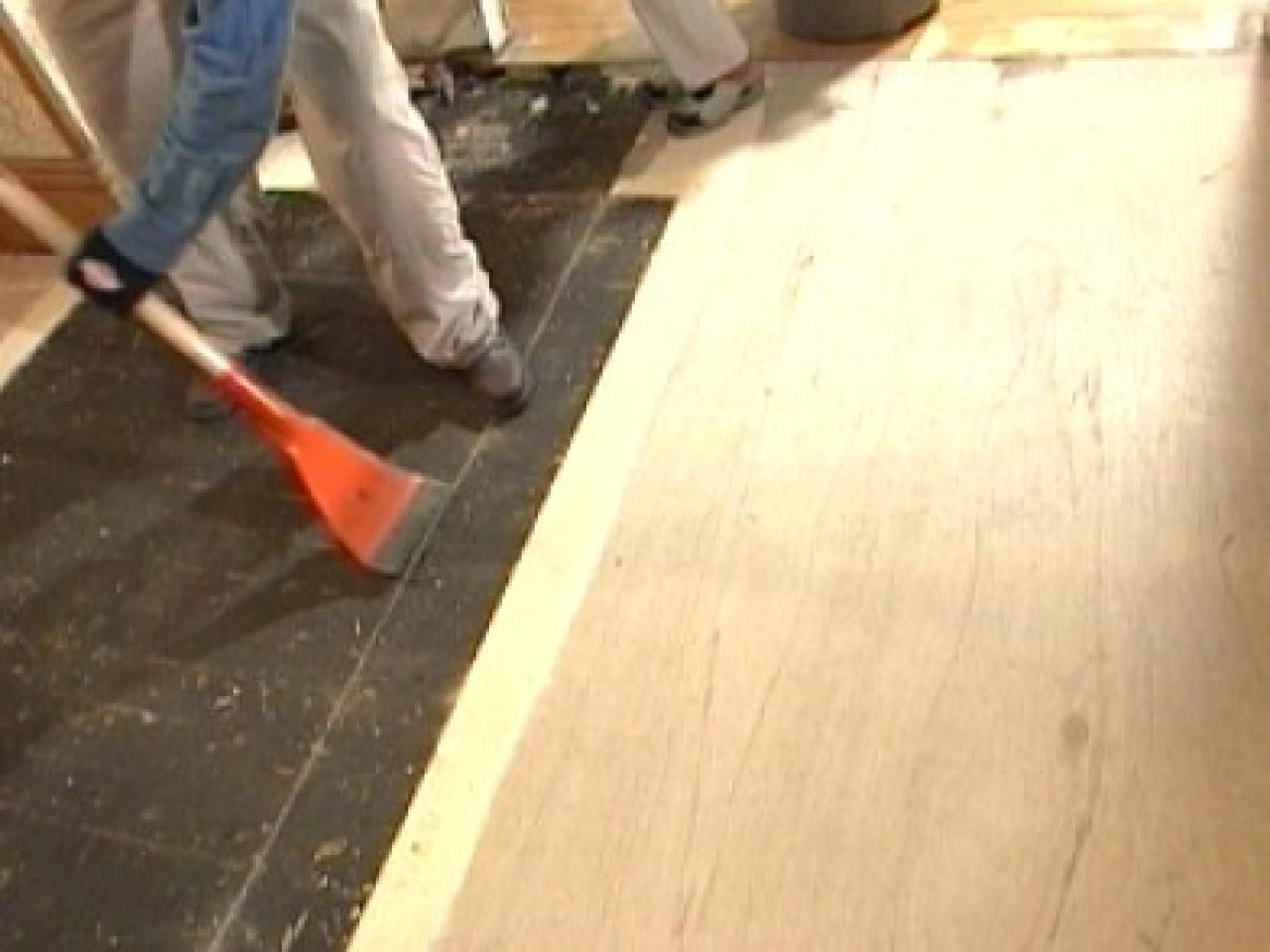 How to replace underlayment in a kitchen how tos diy step 1 doublecrazyfo Image collections