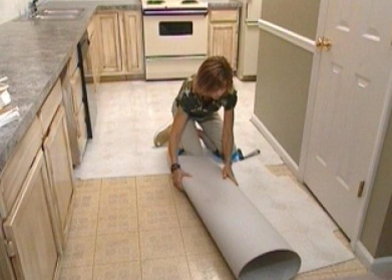 How to install self stick floor tiles how tos diy for Carpet and vinyl flooring