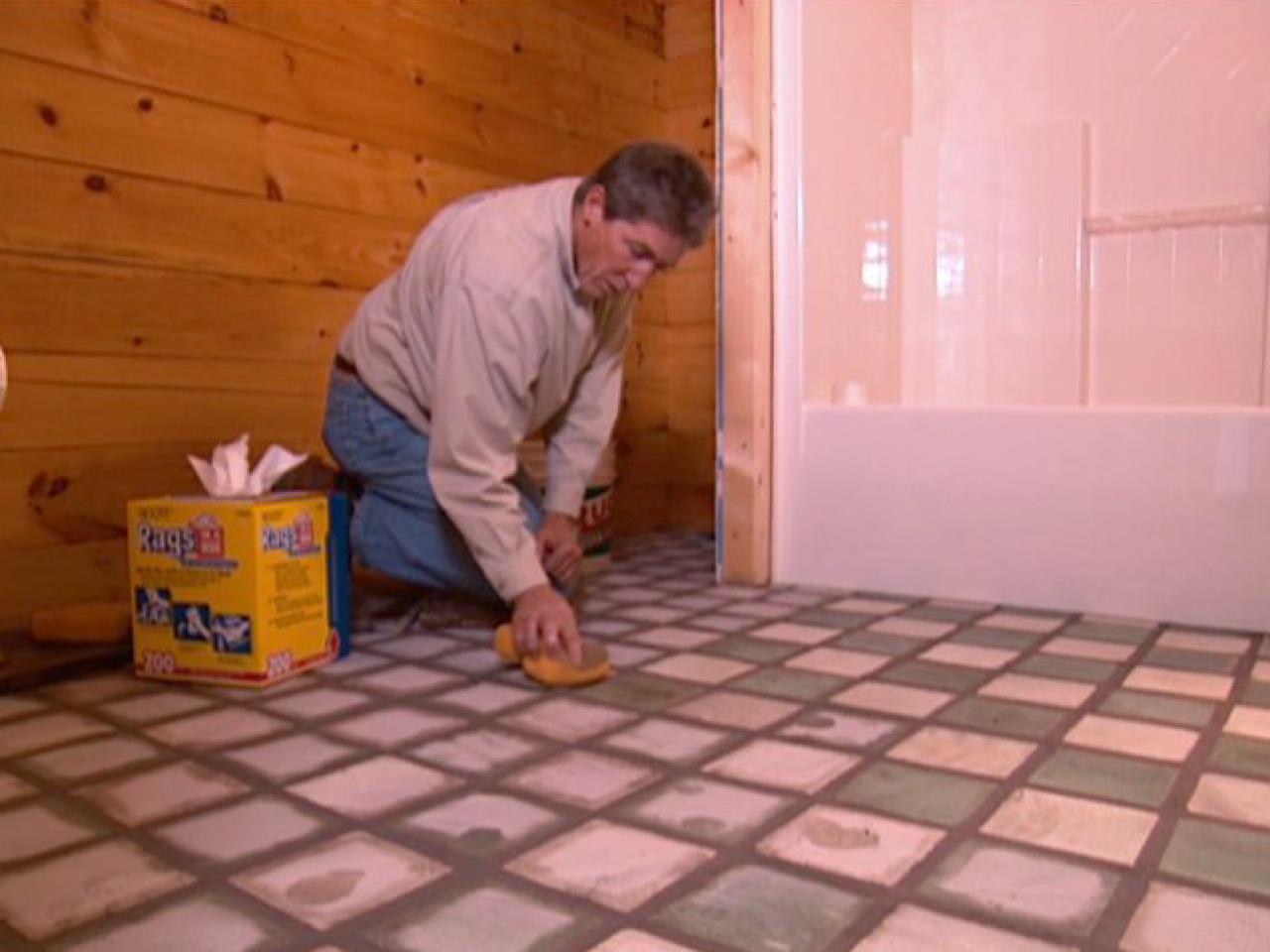 how to retile a bathroom floor