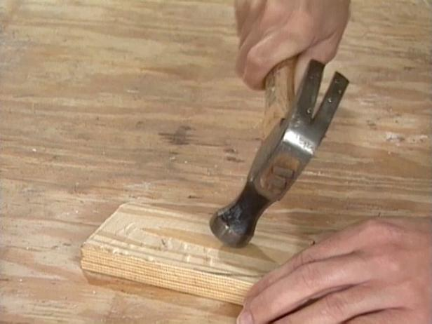 use hammer to give new wood distressed look