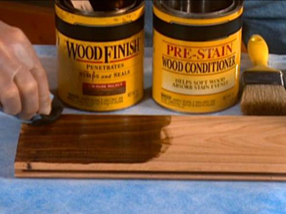many wood staining products exist for projects