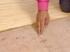 a sub flooring will need to be put down on plywood