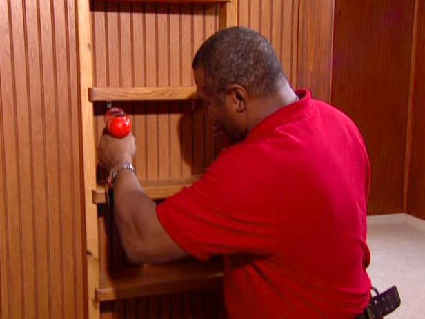 install ladder at foot of bunks