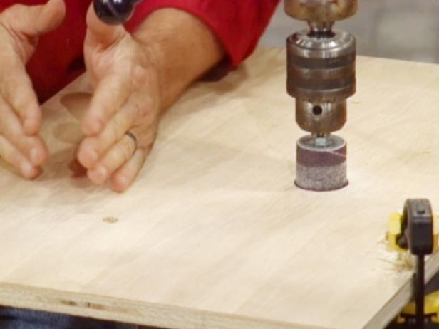 drill hole for dowel