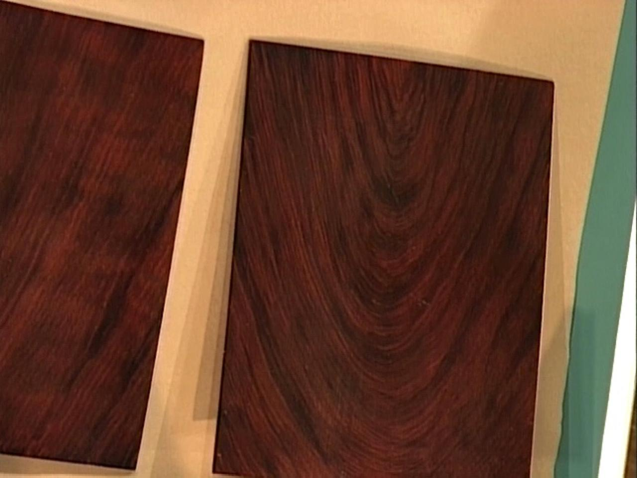 How to create a faux mahogany finish how tos diy Wood colour paint