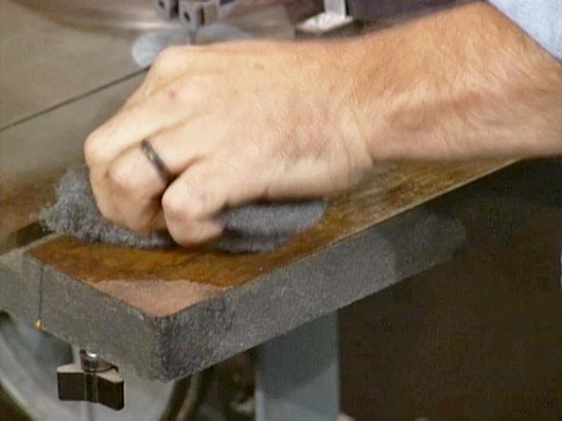 remove rust from band saw table