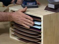storage system for sandpaper is easy to build