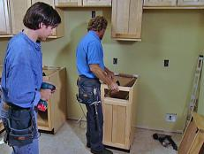 Install Narrow Base Cabinet