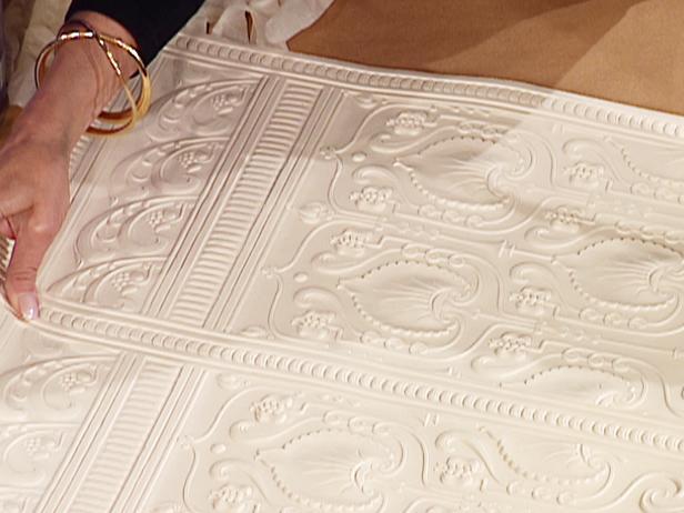 lincrusta embossed wallpaper has authentic look