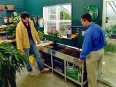 customized potting station aids with cleanup