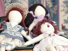 folk rag dolls made from simple materials