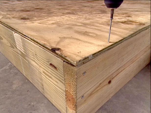 cut wood to match dimensions of box and attach