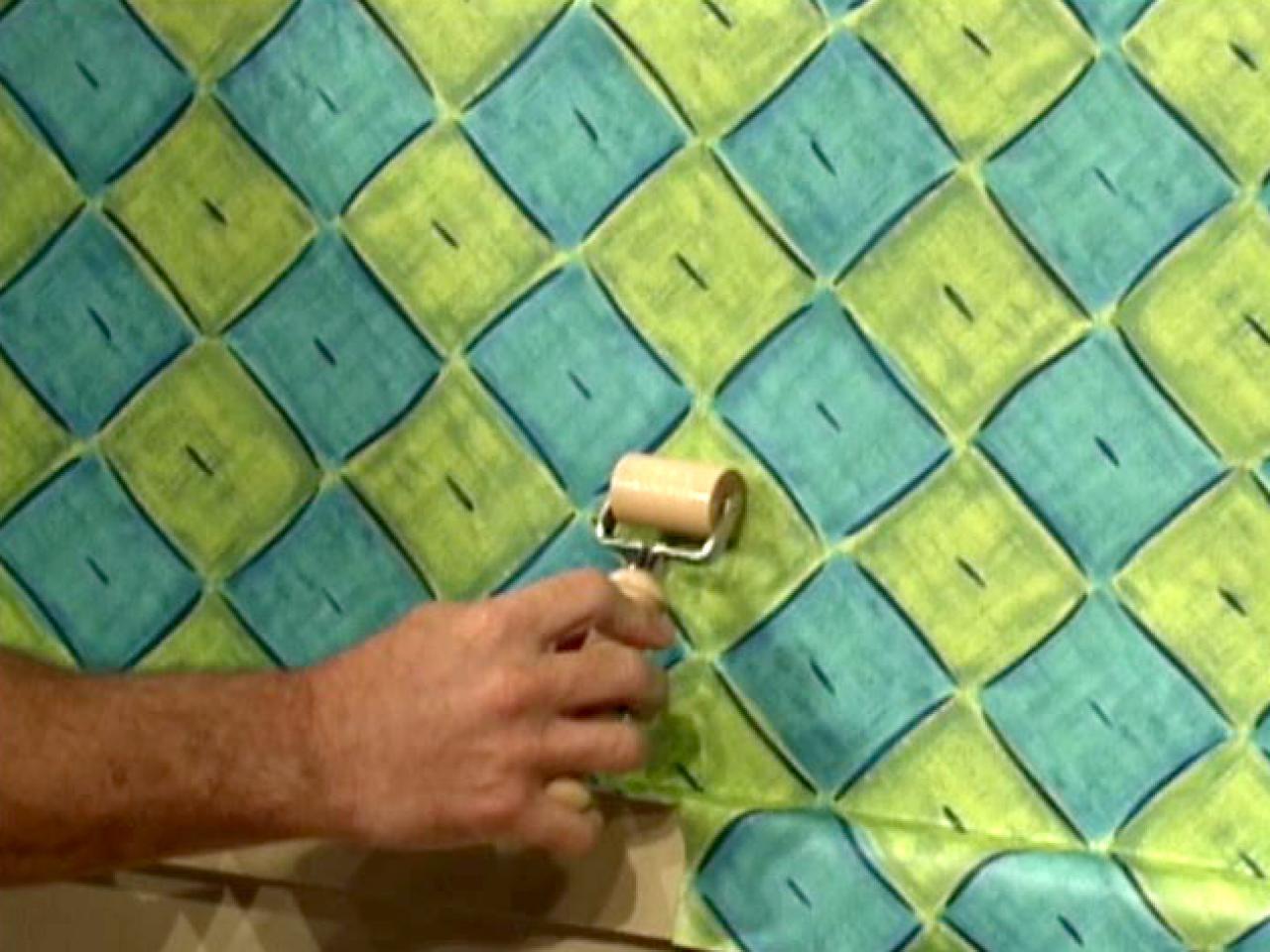 how to hang wallpaper how tos diy. Black Bedroom Furniture Sets. Home Design Ideas