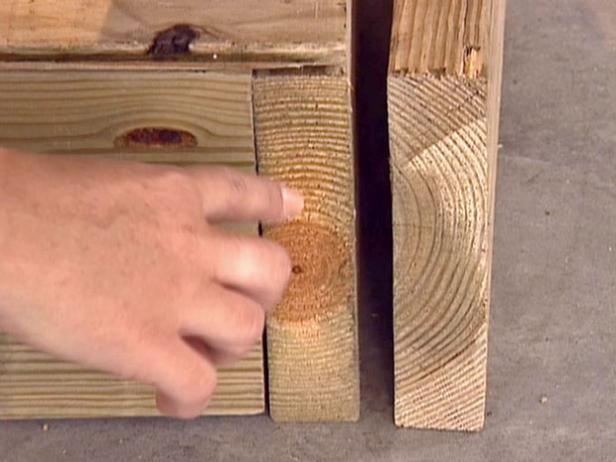 avoid warp by facing curved sides of boards inward