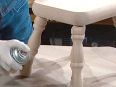 unpainted and unfinished footstool is good choice
