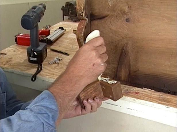 attach replacement pieces to furniture