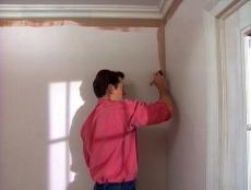 cut in around corners or trim before painting wall
