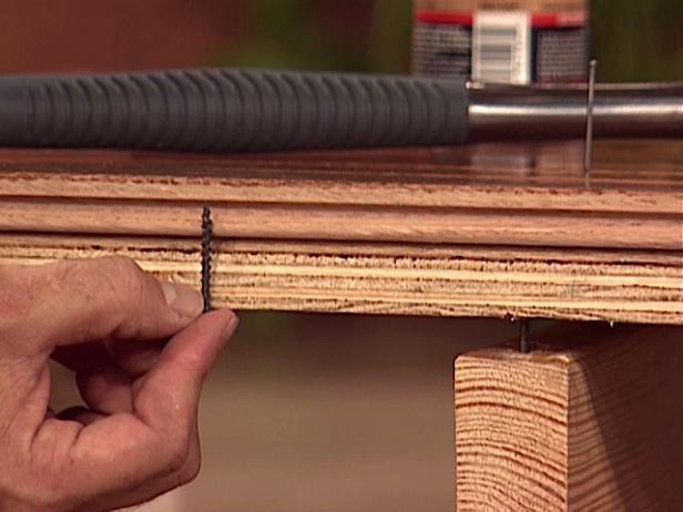 use short screws to fasten subfloor and floor