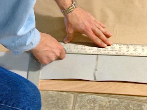 carefully cut along template edge