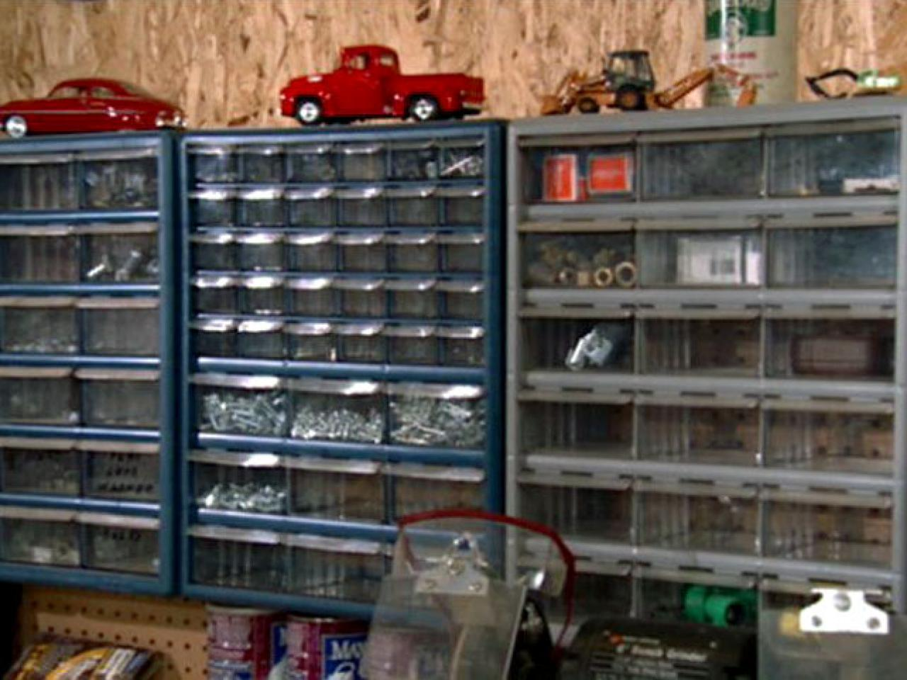 Organizing small items in a workshop diy - Small workshop storage ideas ...