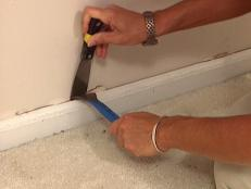 Pulling baseboards for hardwood floor installation