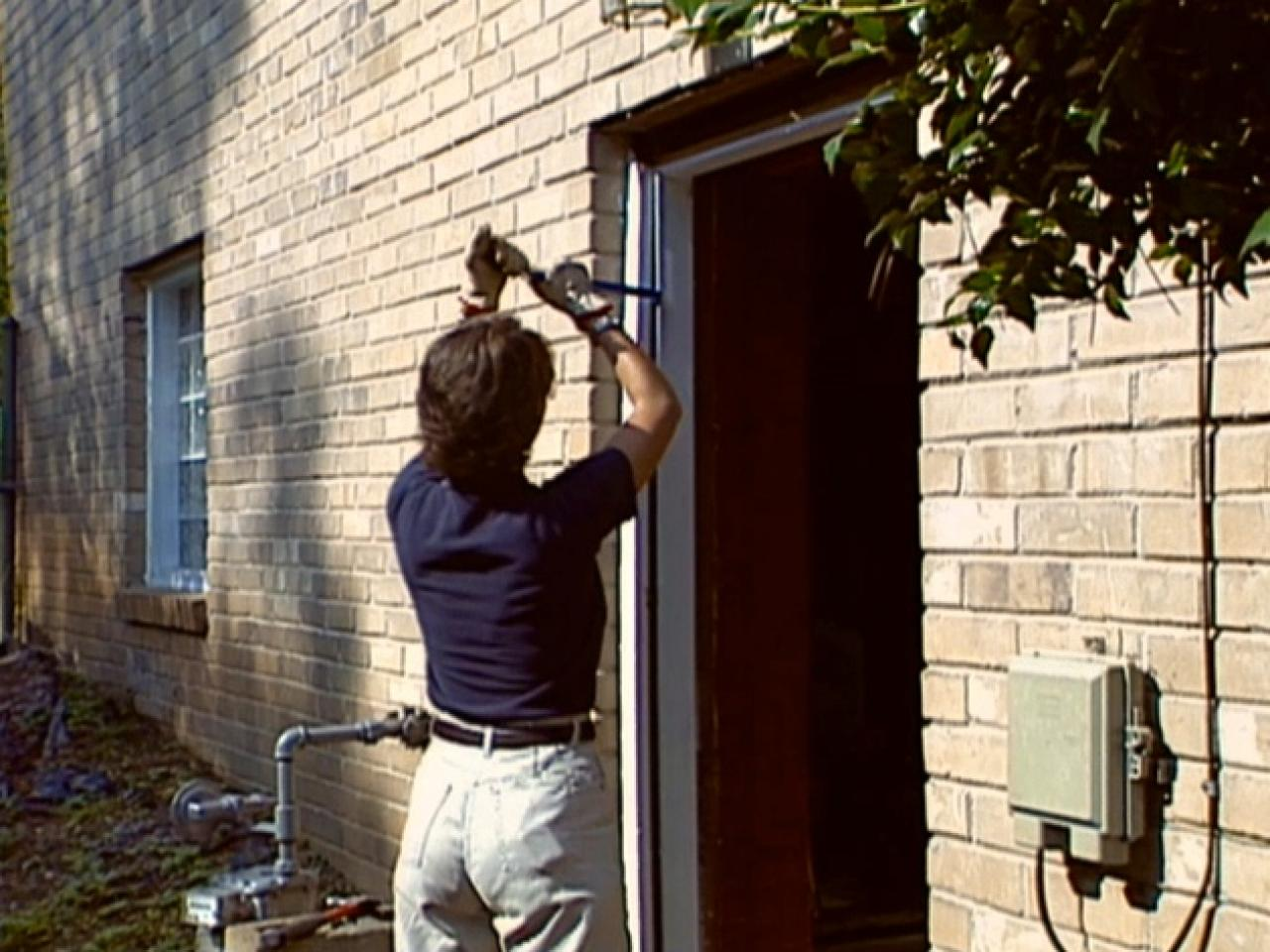 How to install a pre hung exterior door how tos diy for Garage side door and frame