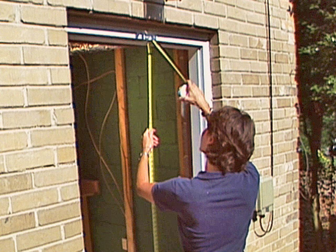 How to install a pre hung exterior door how tos diy Exterior doors installation calgary