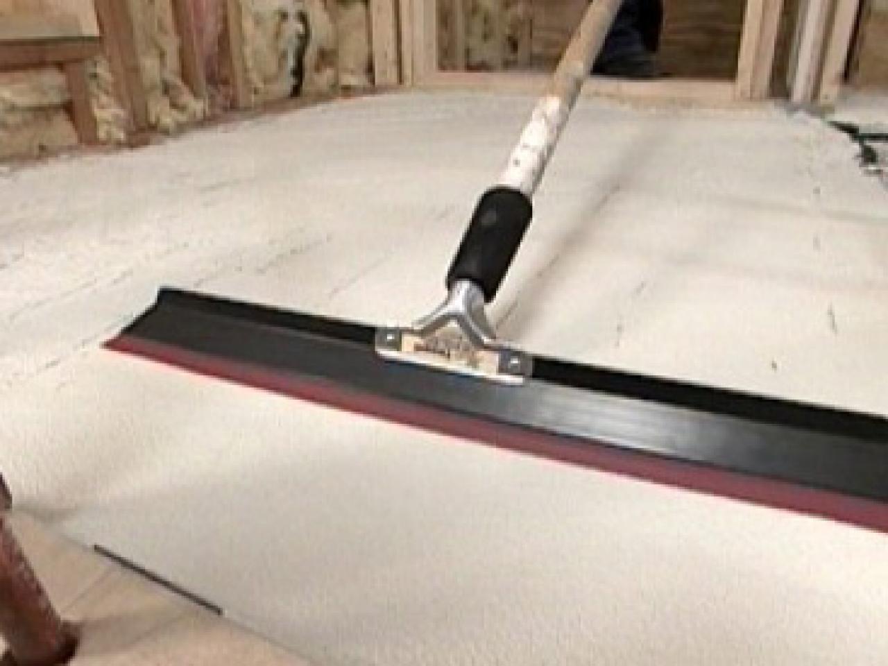 Poured Concrete Kitchen Floor How To Pour A Concrete Floor How Tos Diy