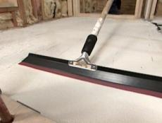 smooth concrete with squeegee