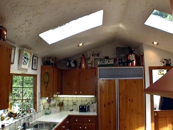add natural lighting to kitchen with skylights