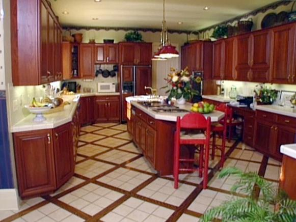 ceramic tile flooring is durable and easy to clean
