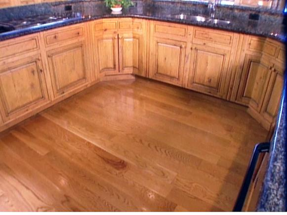 hardwood is another option for kitchen floor
