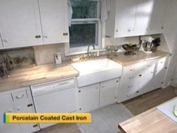 porcelain coated cast iron sinks are durable - Enamel Kitchen Sink