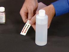 test well water using kit or tests strips
