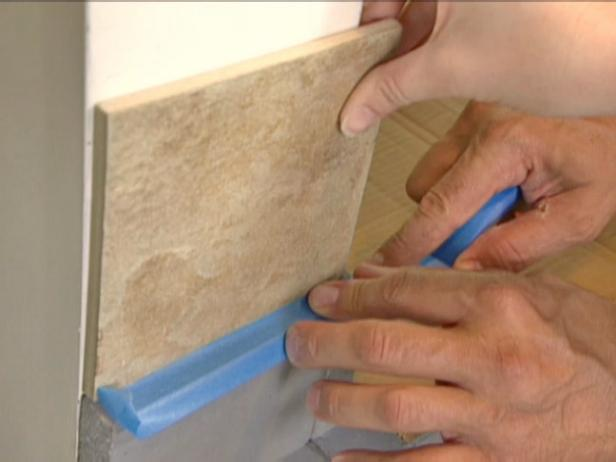 protect exposed concrete surfaces with tape
