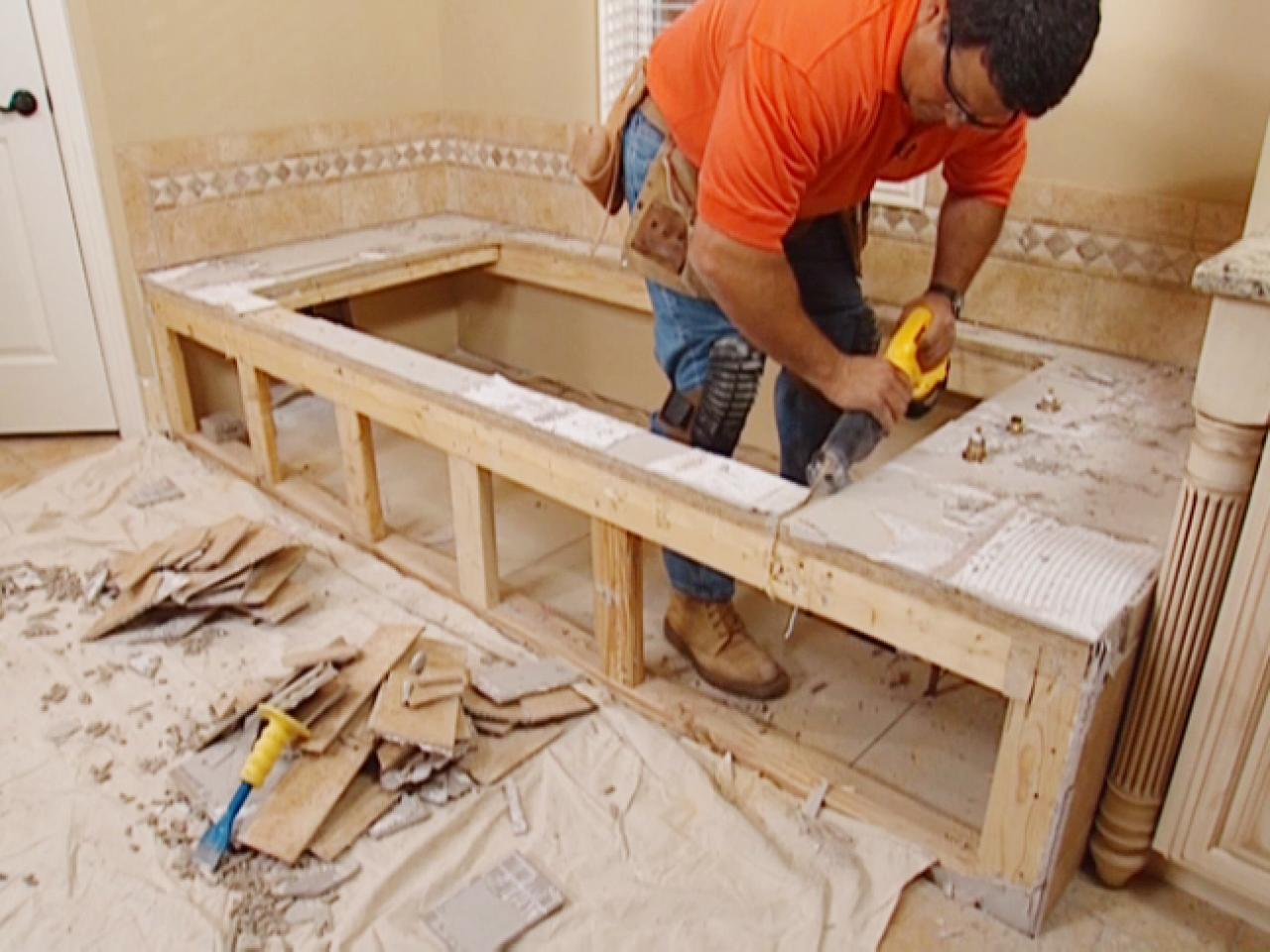 Claw Foot Tub Installation: Surround Demolition | how-tos ...