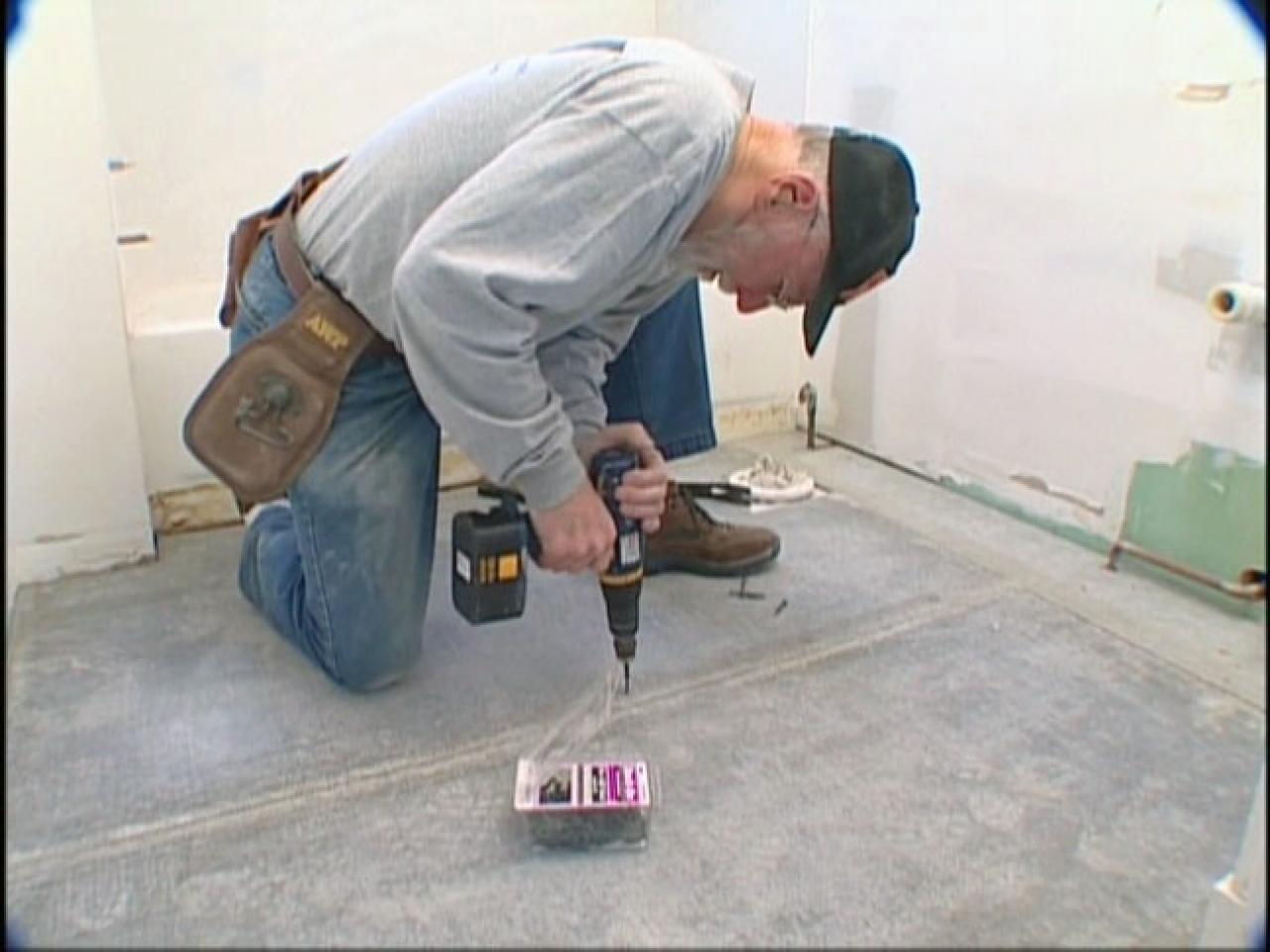 How To Install A Ceramic Tile Floor How Tos Diy