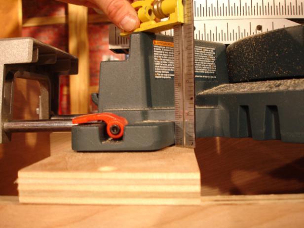 find height of miter saw deck