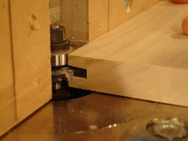 set up cut in router table
