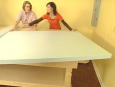 position foam top to table