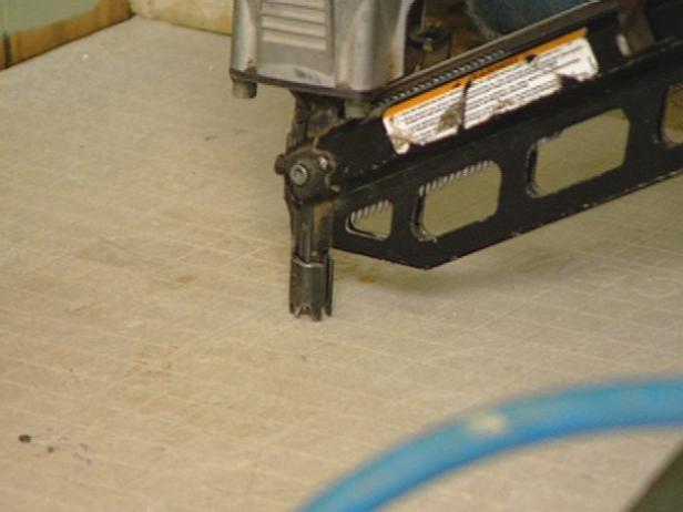 fasten backer board to floor