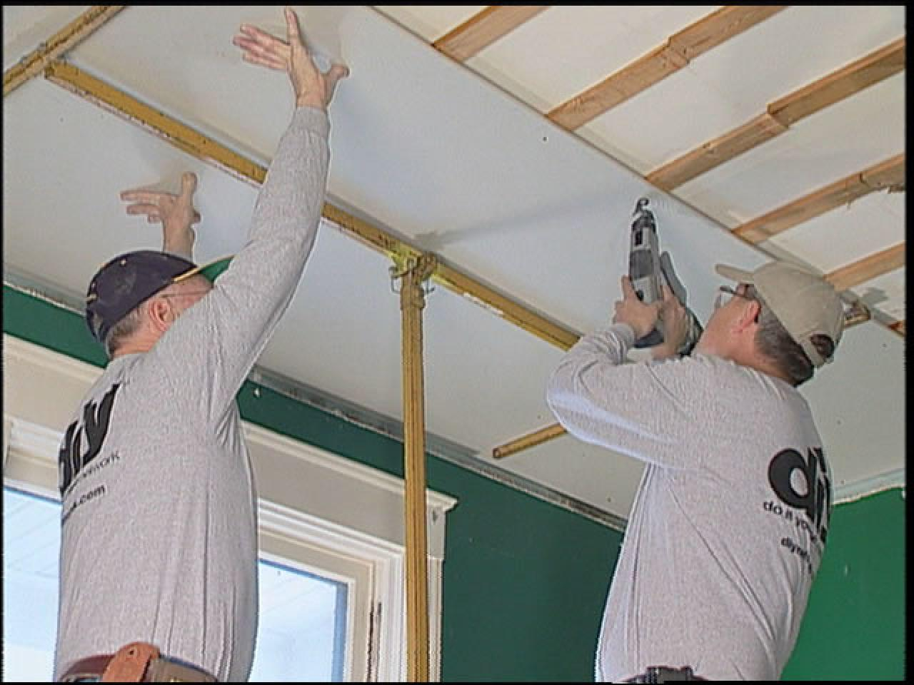 How to replace ceiling tiles with drywall how tos diy step 3 doublecrazyfo Choice Image