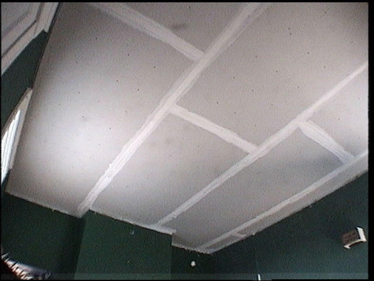How to replace ceiling tiles with drywall how tos diy put a final coat over the screw heads dailygadgetfo Gallery