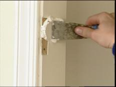 fill holes left by hinges with wood putty