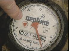 check water meter for unusual activity