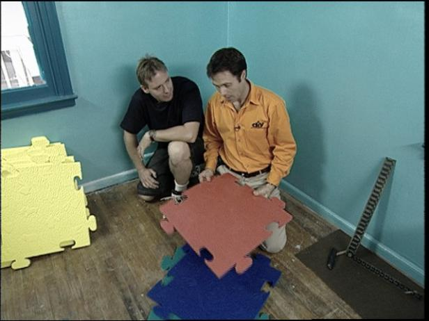prep area for floor tiles