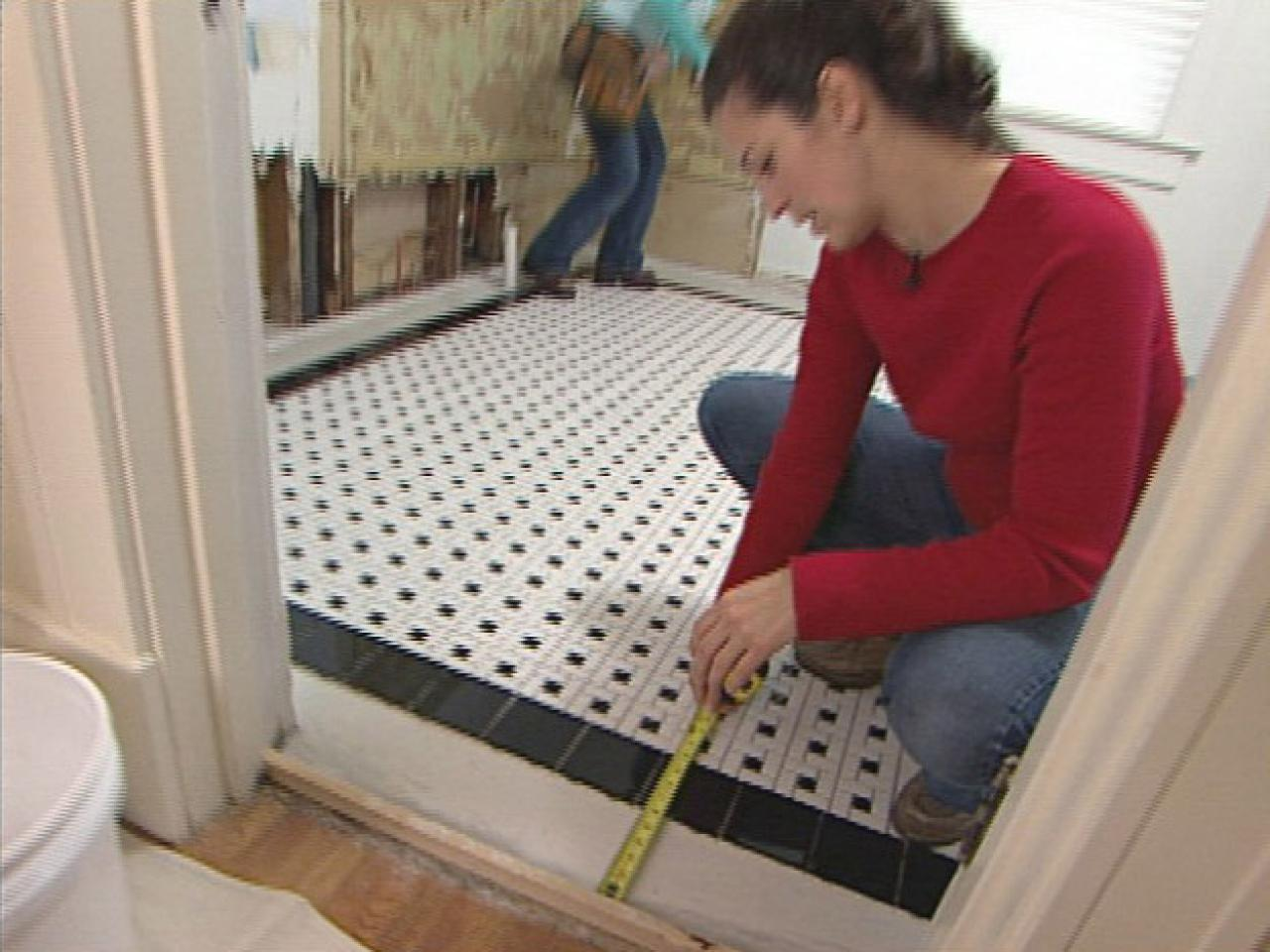 How to install a mosaic tile floor how tos diy measure to center design in room doublecrazyfo Choice Image