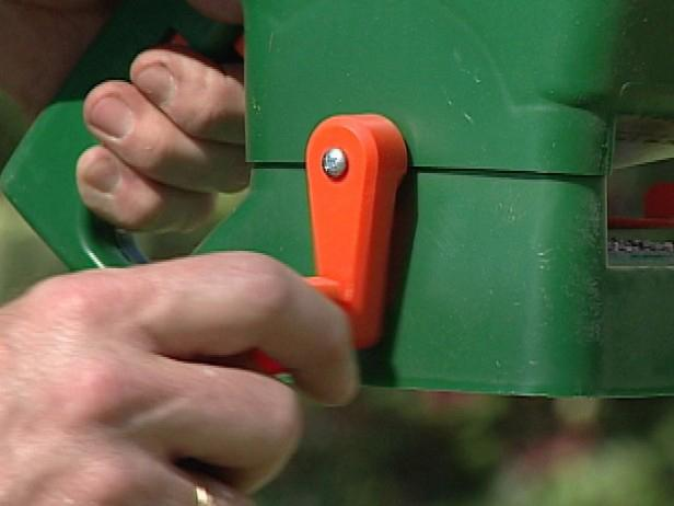 To spread seed over a small area, use a light, portable hand spreader.